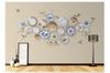 3D porcelain plate floral wall mural Wallpaper 177 Premium Non-Woven Paper-W: 525cm X H: 295cm
