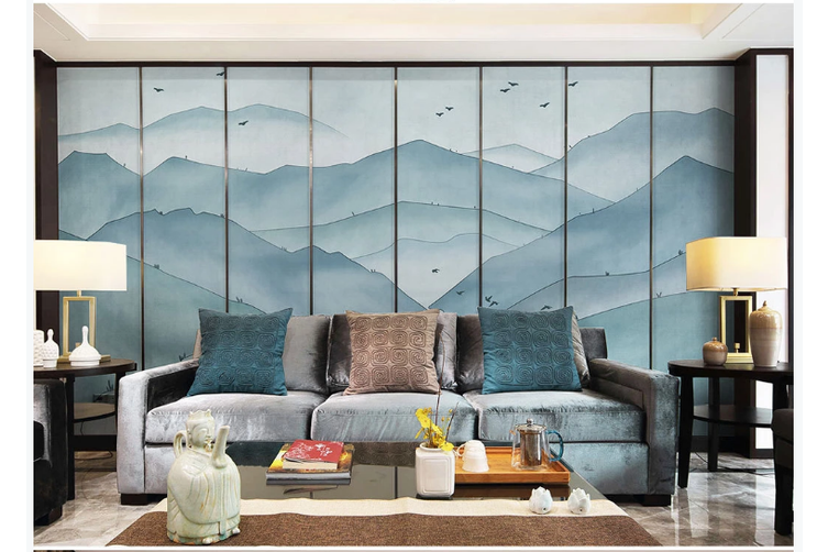 3D abstract ink mountain wall mural Wallpaper 174 Premium Non-Woven Paper-W: 420cm X H: 260cm