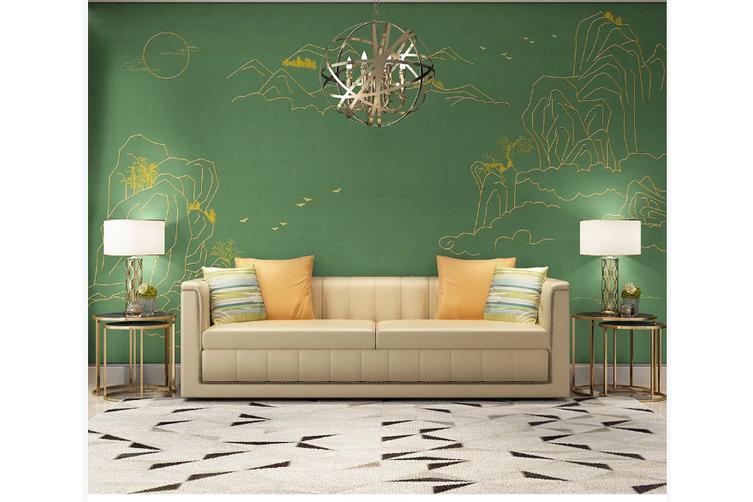 3D golden line drawing mountain wall mural Wallpaper 172 Premium Non-Woven Paper-W: 320cm X H: 225cm