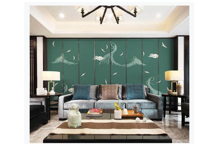 3D hand painting white crane clouds wall mural Wallpaper 171 Premium Non-Woven Paper-W: 525cm X H: 295cm