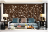 3D hand painting peony bamboo wall mural Wallpaper 170 Premium Non-Woven Paper-W: 525cm X H: 295cm