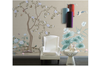 3D hand painting peony lotus wall mural Wallpaper 168 Premium Non-Woven Paper-W: 320cm X H: 225cm