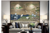 3D white crane plum blossom mountain wall mural Wallpaper 167 Premium Non-Woven Paper-W: 210cm X H: 146cm