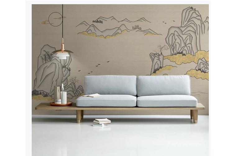 3D abstract mountain landscape wall mural Wallpaper 166 Premium Non-Woven Paper-W: 320cm X H: 225cm