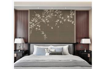 3D plum blossom birds wall mural Wallpaper 165 Premium Non-Woven Paper-W: 320cm X H: 225cm
