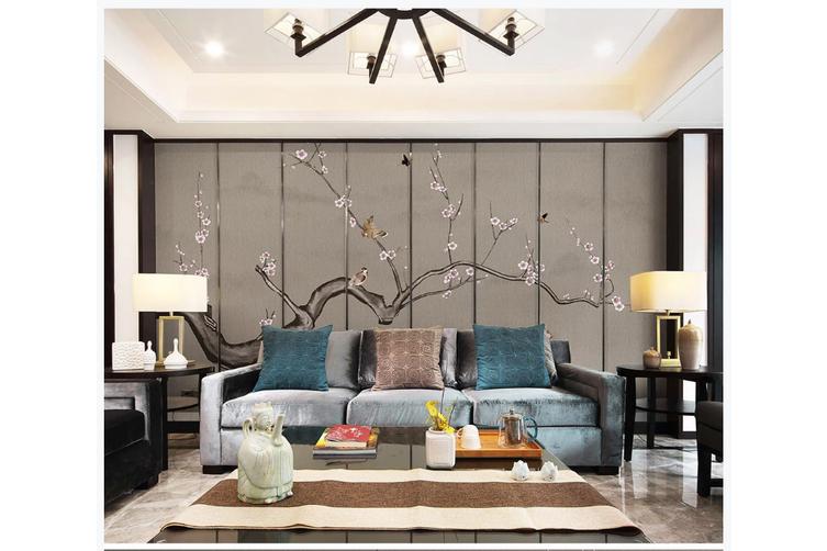3D plum blossom butterfly birds wall mural Wallpaper 164 Premium Non-Woven Paper-W: 320cm X H: 225cm