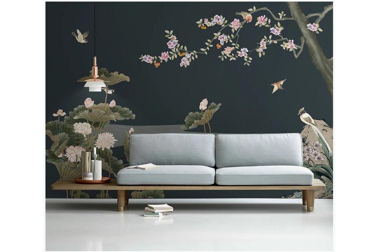 3D plum blossom birds wall mural Wallpaper 163 Premium Non-Woven Paper-W: 525cm X H: 295cm