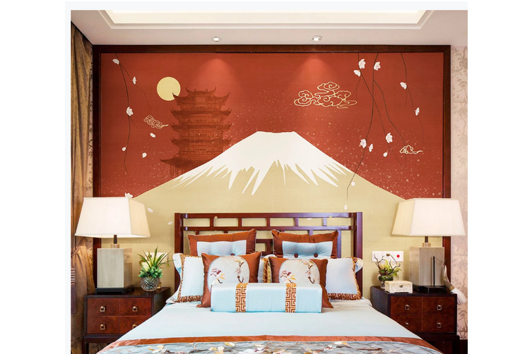 3D hand painting mountain clouds wall mural Wallpaper 162 Premium Non-Woven Paper-W: 210cm X H: 146cm