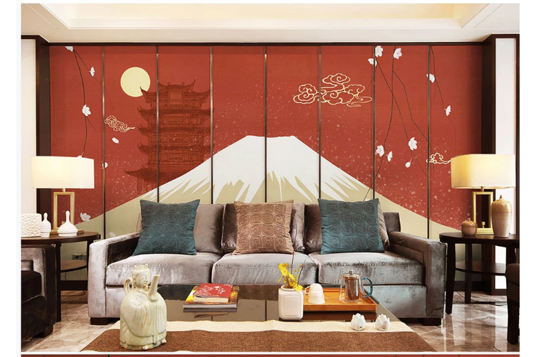3D hand painting mountain clouds wall mural Wallpaper 162 Premium Non-Woven Paper-W: 420cm X H: 260cm