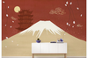3D hand painting mountain clouds wall mural Wallpaper 162 Premium Non-Woven Paper-W: 525cm X H: 295cm