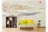 3D abstract mountain landscape wall mural Wallpaper 160 Premium Non-Woven Paper-W: 420cm X H: 260cm