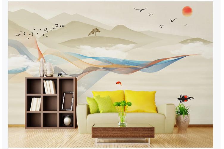 3D abstract mountain landscape wall mural Wallpaper 160 Premium Non-Woven Paper-W: 525cm X H: 295cm