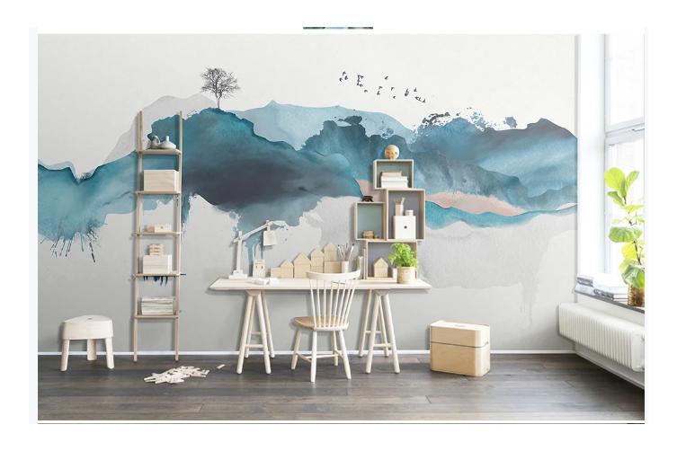 3D abstract mountain wall mural Wallpaper 159 Premium Non-Woven Paper-W: 420cm X H: 260cm