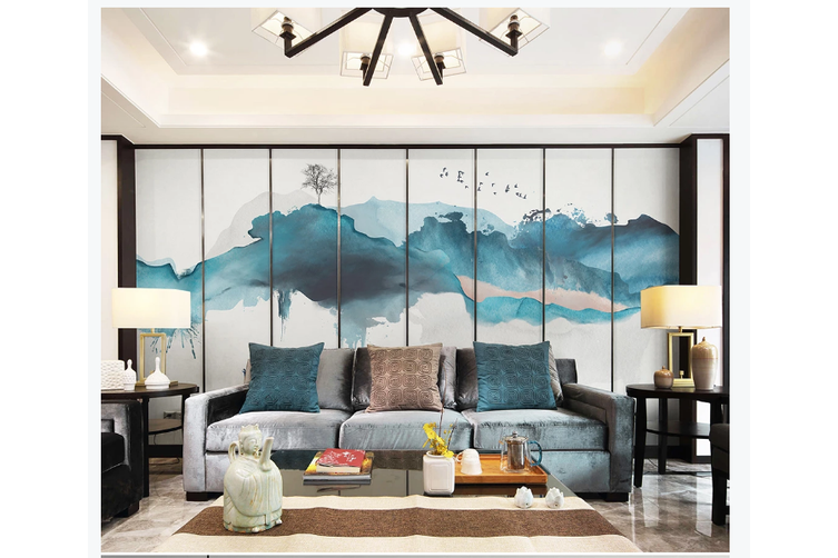 3D abstract mountain wall mural Wallpaper 159 Premium Non-Woven Paper-W: 525cm X H: 295cm