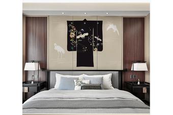 3D white crane clouds wall mural Wallpaper 158 Premium Non-Woven Paper-W: 320cm X H: 225cm
