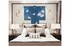 3D white crane clouds carp wall mural Wallpaper 157 Premium Non-Woven Paper-W: 320cm X H: 225cm