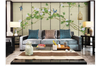 3D hand painting green vine leaves wall mural Wallpaper 150 Premium Non-Woven Paper-W: 210cm X H: 146cm