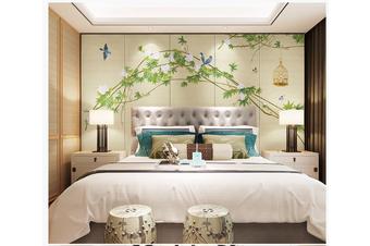 3D hand painting green vine leaves wall mural Wallpaper 150 Premium Non-Woven Paper-W: 525cm X H: 295cm