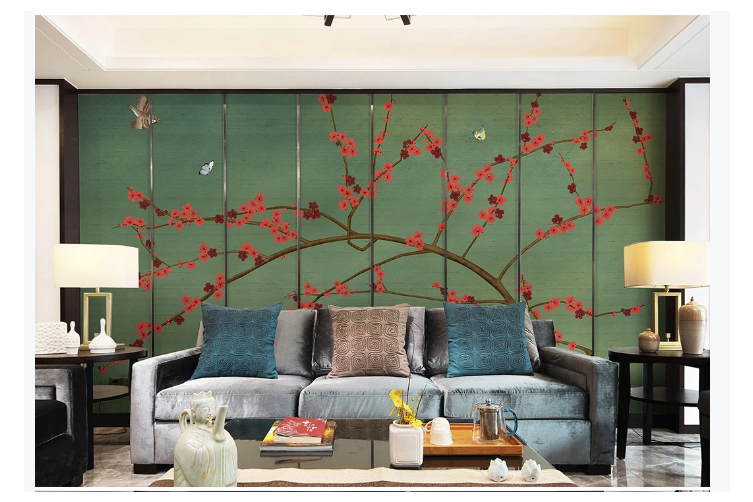 3D hand painting plum blossom wall mural Wallpaper 147 Premium Non-Woven Paper-W: 210cm X H: 146cm