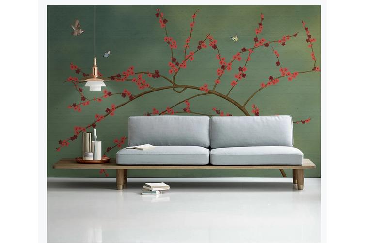 3D hand painting plum blossom wall mural Wallpaper 147 Premium Non-Woven Paper-W: 420cm X H: 260cm