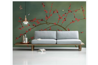 3D hand painting plum blossom wall mural Wallpaper 147 Premium Non-Woven Paper-W: 525cm X H: 295cm