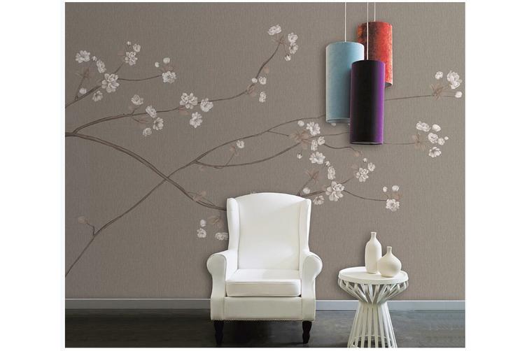3D hand painting plum blossom wall mural Wallpaper 145 Premium Non-Woven Paper-W: 525cm X H: 295cm