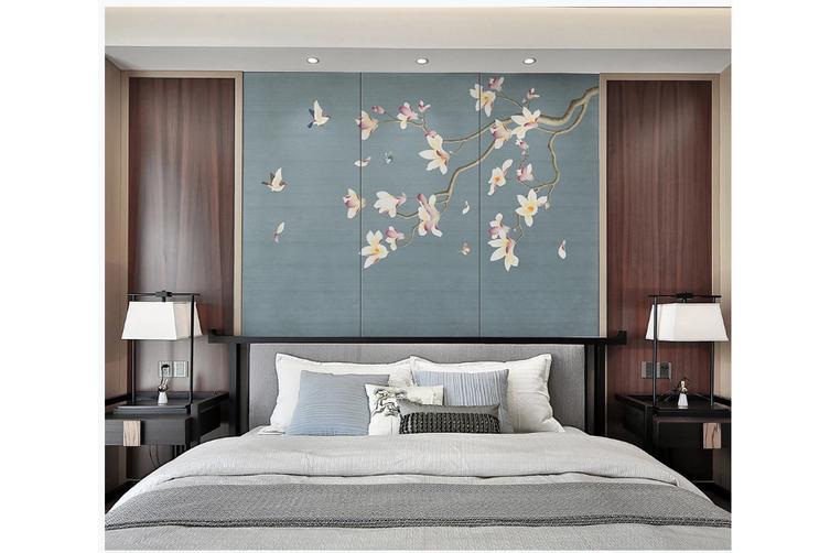 3D hand painting magnolia blossom wall mural Wallpaper 142 Premium Non-Woven Paper-W: 210cm X H: 146cm