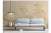 3D chinese retro building wall mural Wallpaper 144 Premium Non-Woven Paper-W: 210cm X H: 146cm