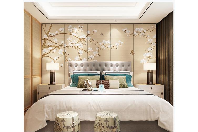 3D hand painting magnolia blossom wall mural Wallpaper 143 Premium Non-Woven Paper-W: 320cm X H: 225cm