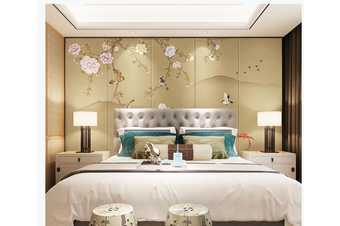 3D hand painting peony wall mural Wallpaper 141 Premium Non-Woven Paper-W: 210cm X H: 146cm