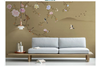 3D hand painting peony wall mural Wallpaper 141 Premium Non-Woven Paper-W: 320cm X H: 225cm