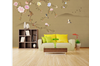 3D hand painting peony wall mural Wallpaper 141 Premium Non-Woven Paper-W: 525cm X H: 295cm