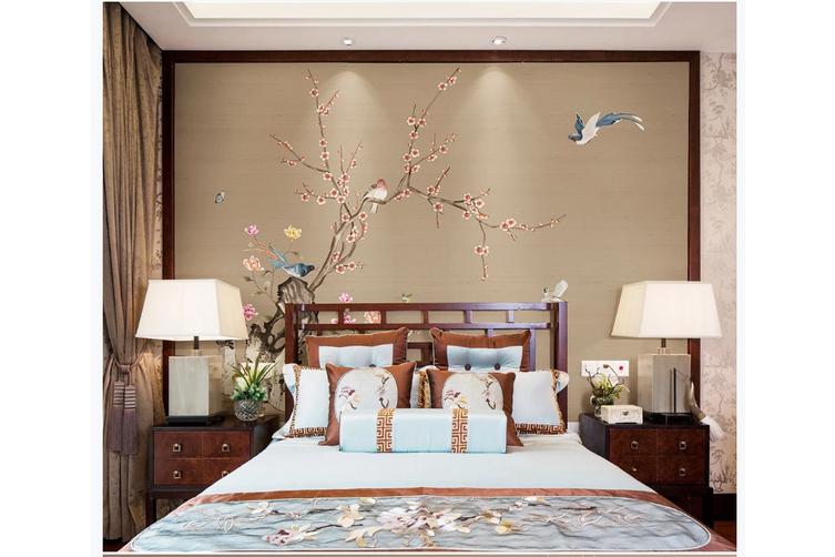 3D hand painting plum blossom wall mural Wallpaper 139 Premium Non-Woven Paper-W: 420cm X H: 260cm