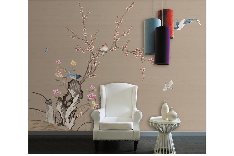 3D hand painting plum blossom wall mural Wallpaper 139 Premium Non-Woven Paper-W: 525cm X H: 295cm