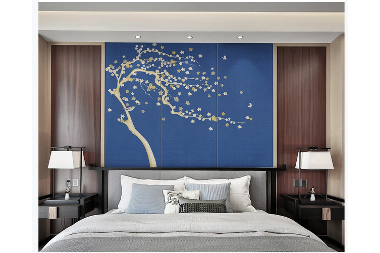 3D hand painting plum blossom wall mural Wallpaper 136 Premium Non-Woven Paper-W: 210cm X H: 146cm