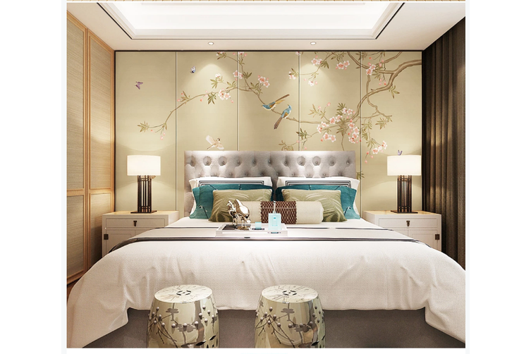 3D hand painting magnolia floral wall mural Wallpaper 134 Premium Non-Woven Paper-W: 210cm X H: 146cm