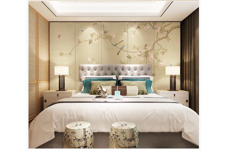 3D hand painting magnolia floral wall mural Wallpaper 134 Premium Non-Woven Paper-W: 525cm X H: 295cm