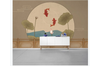 3D chinese painting carp lotus wall mural Wallpaper 132 Premium Non-Woven Paper-W: 420cm X H: 260cm