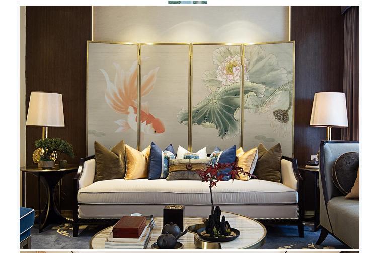 3D hand painting carp lotus wall mural Wallpaper 131 Premium Non-Woven Paper-W: 210cm X H: 146cm