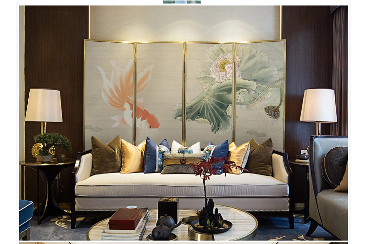 3D hand painting carp lotus wall mural Wallpaper 131 Premium Non-Woven Paper-W: 420cm X H: 260cm