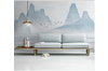 3D blue chinese ink landscape wall mural Wallpaper 129 Premium Non-Woven Paper-W: 420cm X H: 260cm