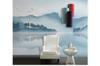 3D blue chinese ink landscape wall mural Wallpaper 128 Premium Non-Woven Paper-W: 525cm X H: 295cm