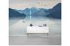 3D blue chinese ink landscape wall mural Wallpaper 127 Premium Non-Woven Paper-W: 420cm X H: 260cm