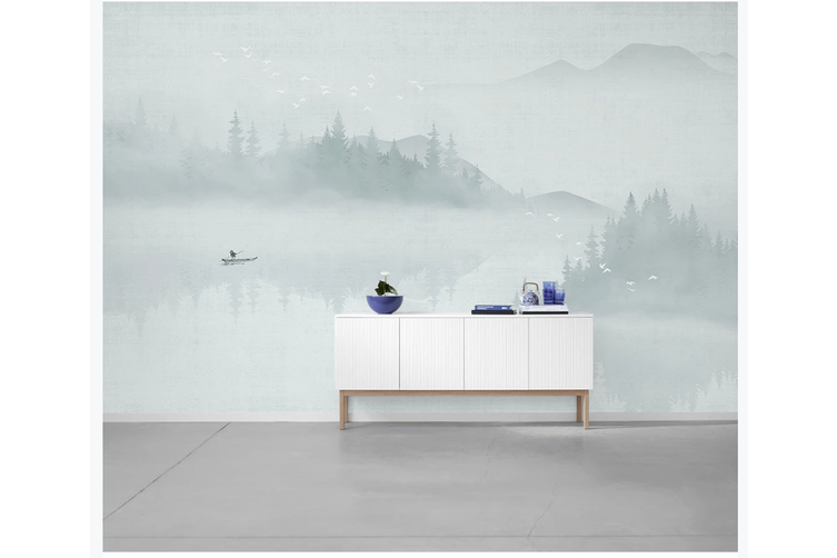 3D abstract chinese ink landscape wall mural Wallpaper 126 Premium Non-Woven Paper-W: 210cm X H: 146cm