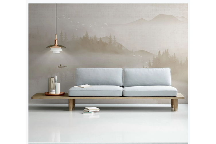 3D abstract chinese ink landscape wall mural Wallpaper 126 Premium Non-Woven Paper-W: 320cm X H: 225cm