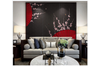 3D plum blossom red fan wall mural Wallpaper 123 Premium Non-Woven Paper-W: 525cm X H: 295cm