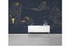 3D golden line drawing landscape wall mural Wallpaper 122 Premium Non-Woven Paper-W: 420cm X H: 260cm