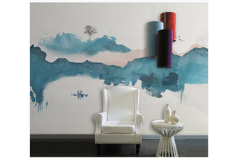 3D abstract chinese ink landscape wall mural Wallpaper 121 Premium Non-Woven Paper-W: 525cm X H: 295cm