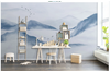 3D chinese ink landscape wall mural Wallpaper 118 Premium Non-Woven Paper-W: 210cm X H: 146cm