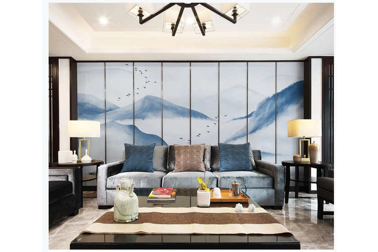 3D chinese ink landscape wall mural Wallpaper 118 Premium Non-Woven Paper-W: 420cm X H: 260cm